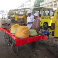 Street vendors in Bangalore, India