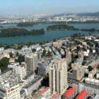 Birds eye view of city of Nanjing