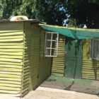 Green shanty house in Cape Town