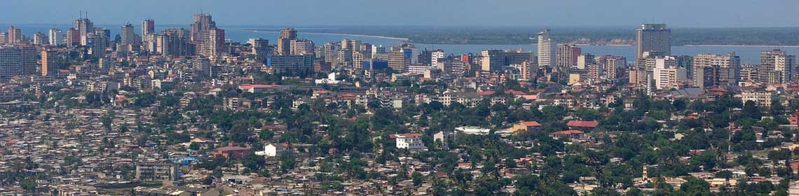 Brids eye view of City of Maputo, Mozambique