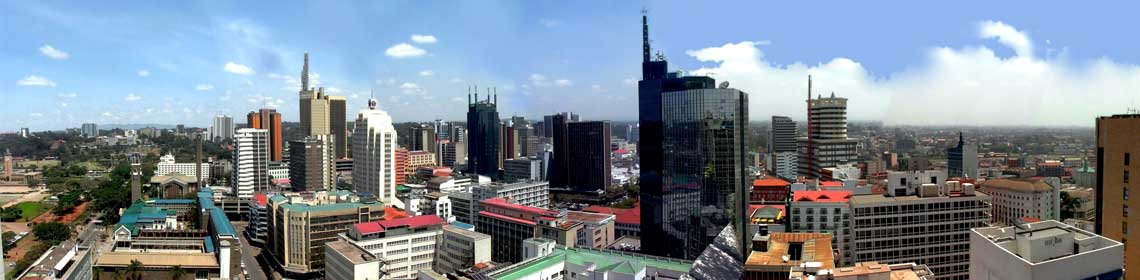 Skyline of City of Nairobi, Kenya