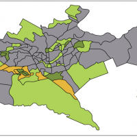 Map of location of slums in Nairobi, Africa