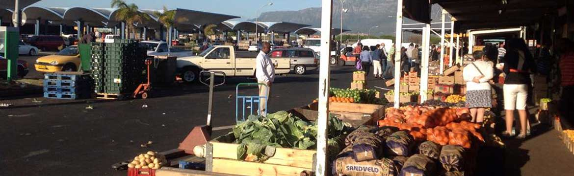 Public market in Cape Town